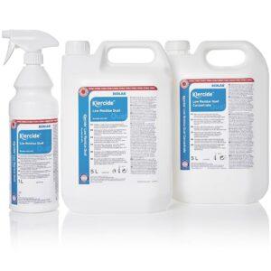 Klercide sterilt desinfeksjonsmiddel biocide F fra AET 1 spray og 5 liter kanne