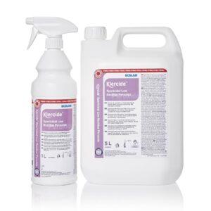 Klercide sterilt desinfeksjonsmiddel biocide C fra AET 1 liter spray og 5 liter kanne